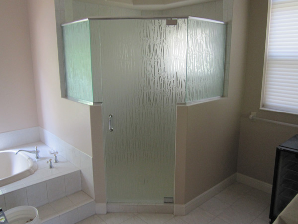 Frosted Glass Shower Doors frosted glass and mirrors in golden gate fl