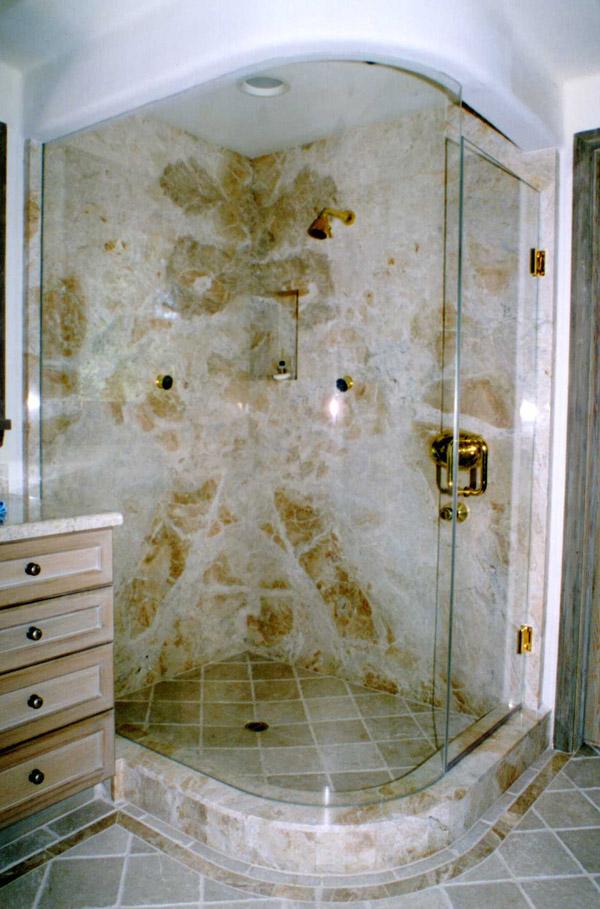 Bent Glass Showers In Sanibel FL - Bathroom glass door price
