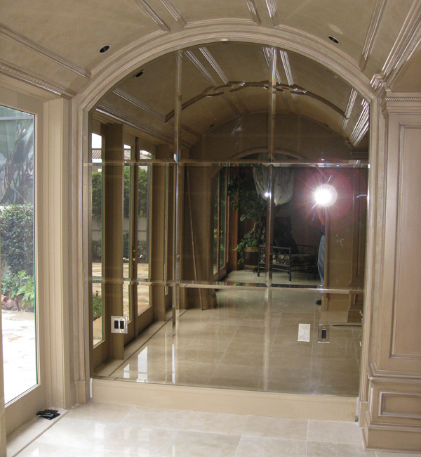 beveled glass and mirrors