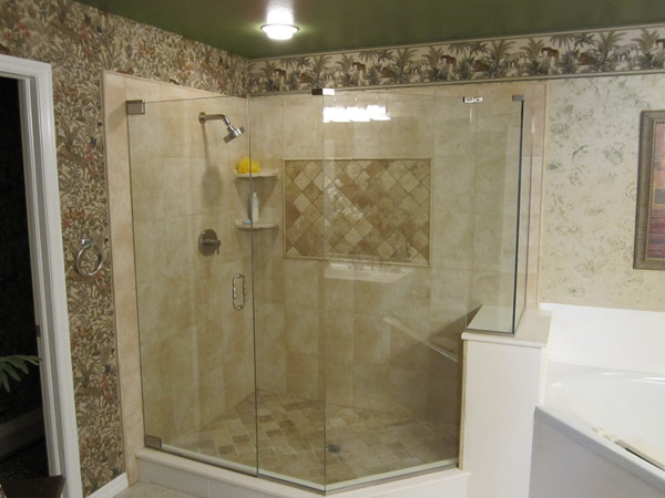Lovely Frameless Shower Doors