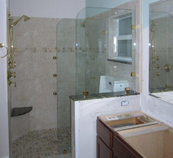 Bathroom Partition Glass Model Glass Partitions In Ft Myers Fl