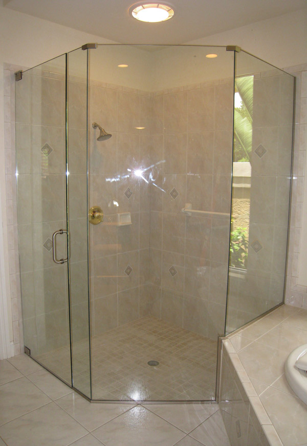 Neoangle shower door