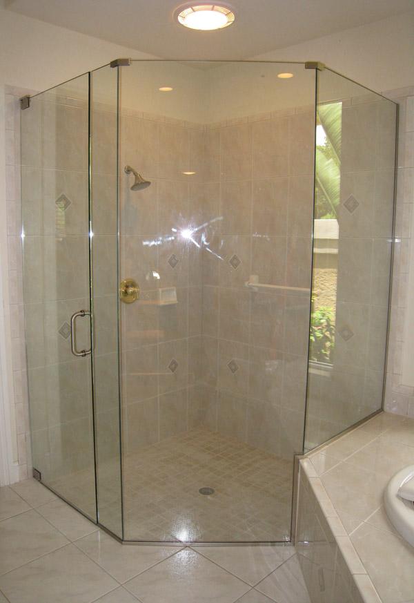 Neo Angle Shower Doors in Sanibel FL