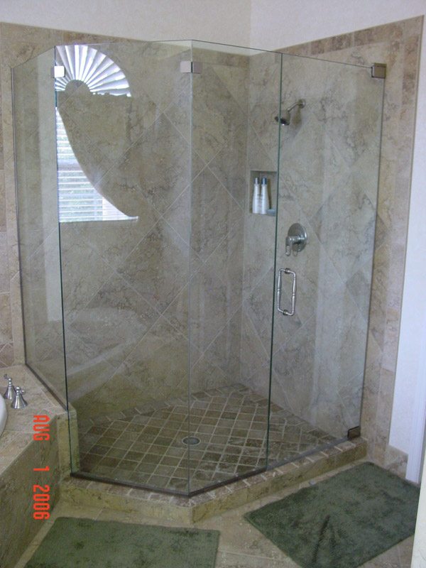 pewter shower doors
