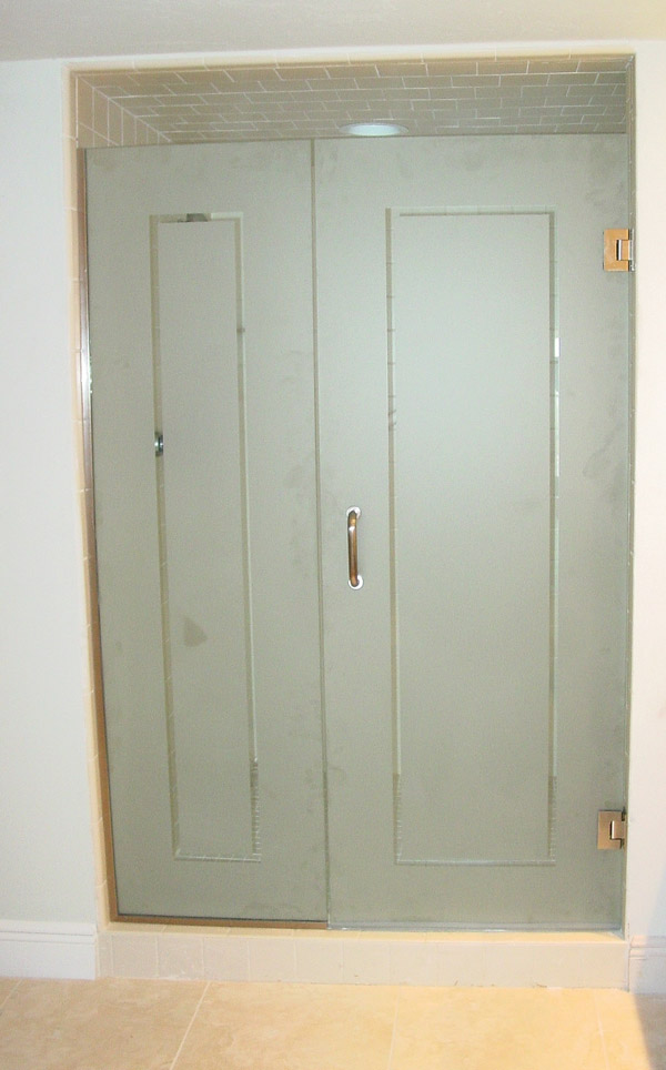 Opaque Single Shower Doors stainless steel shower doors in naples fl