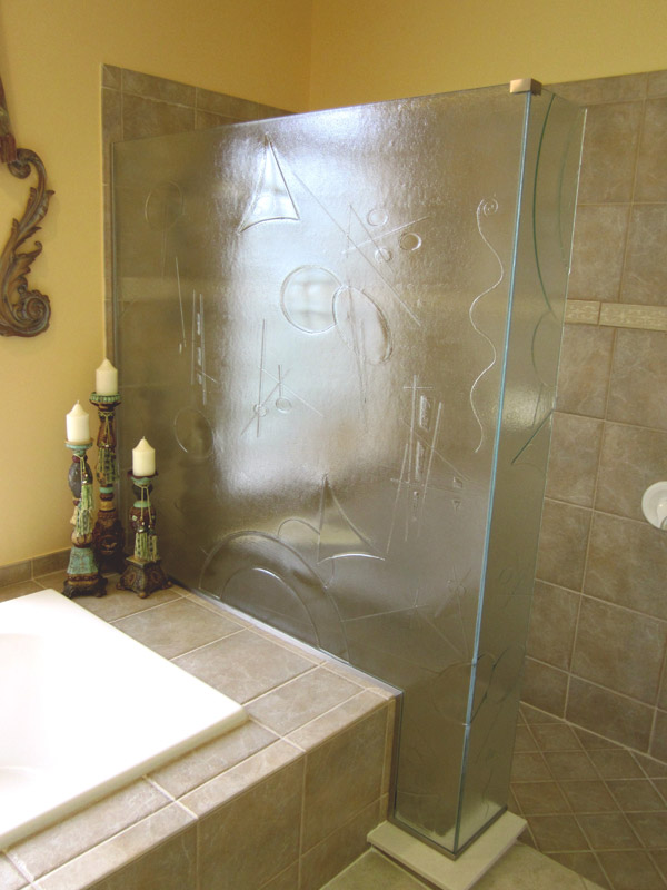 Cast Glass Shower Doors in FL